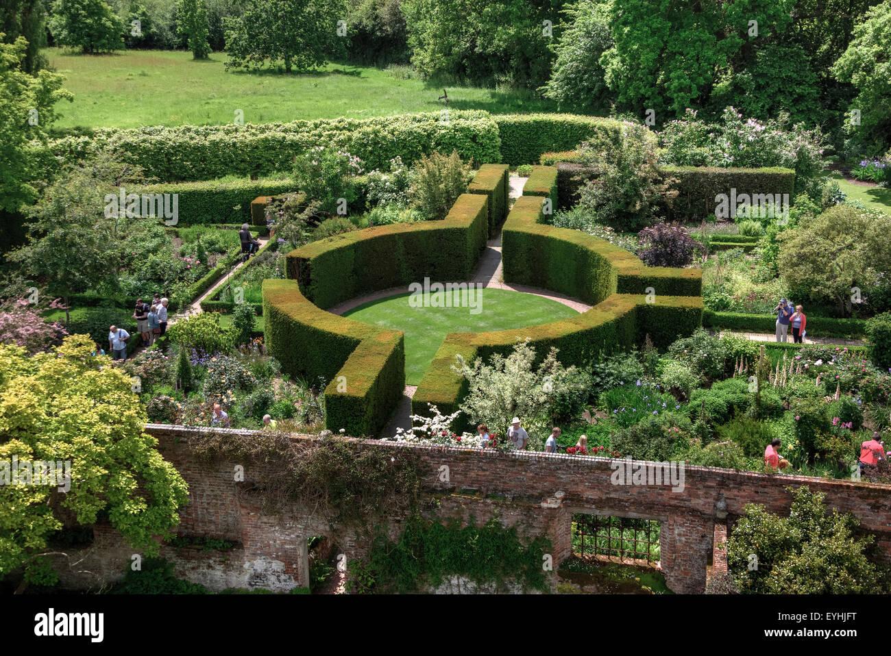 Château de Sissinghurst, Tunbridge Wells, Kent, Angleterre, Royaume-Uni Banque D'Images