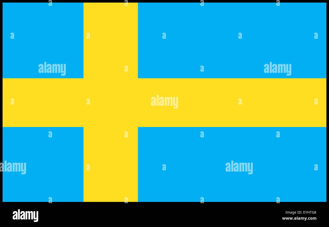 Fahne: Kind/ Drapeau: la Suède. Banque D'Images