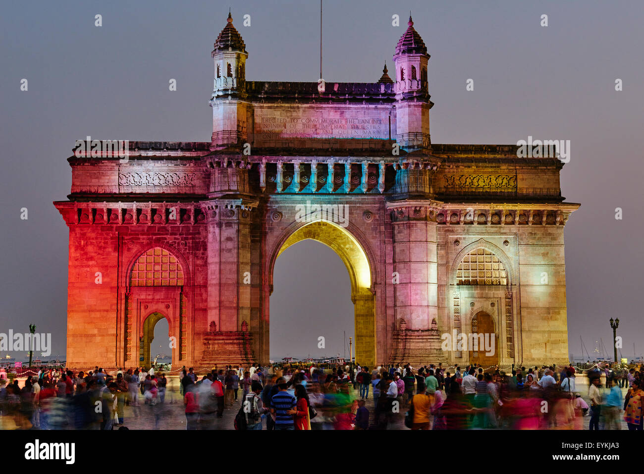 L'Inde, Maharashtra, Mumbai (Bombay), porte de l'Inde Photo Stock