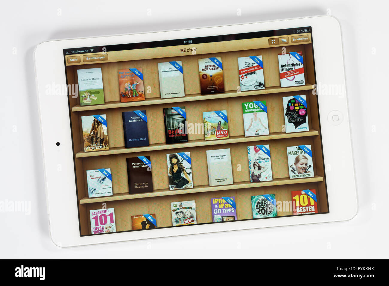 Apple iPad mini, l'affichage, les livres, l'iPad, poste, d'un programme multi-fonction, l'air, Photo Stock