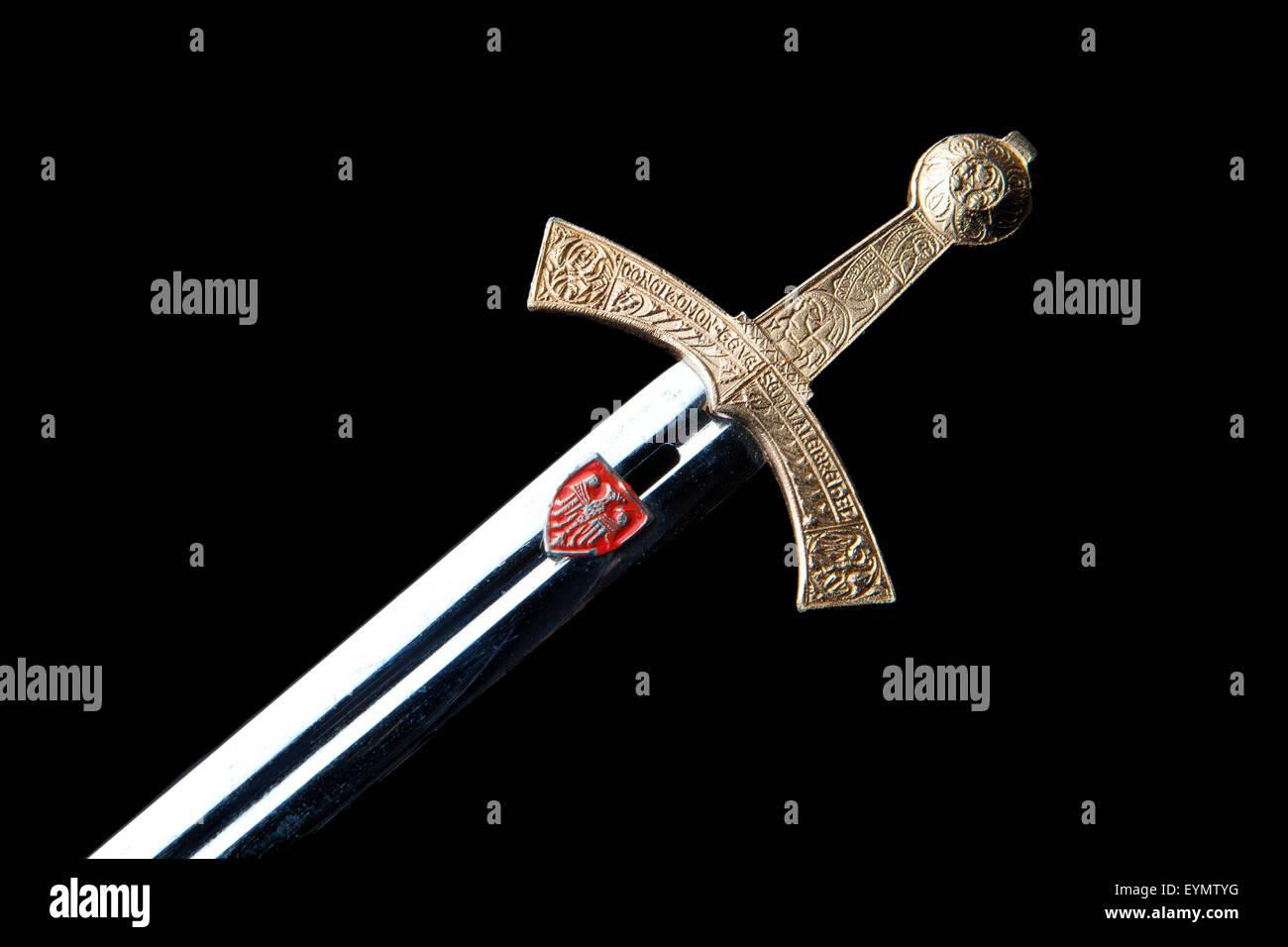 Szczerbiec, l'épée de couronnement polonais, de souvenirs Photo Stock