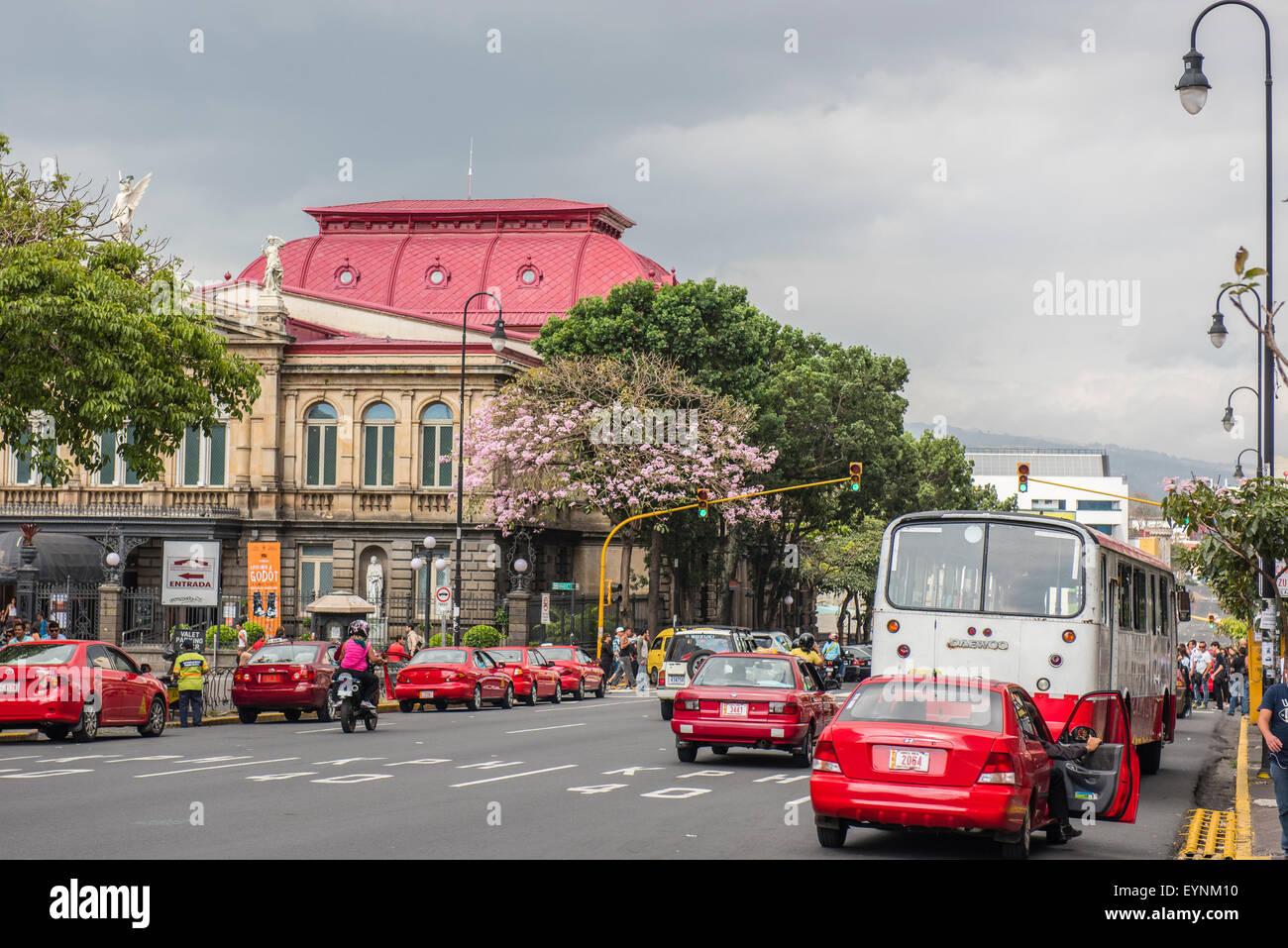 Le Théâtre National, San Jose, Costa Rica Banque D'Images