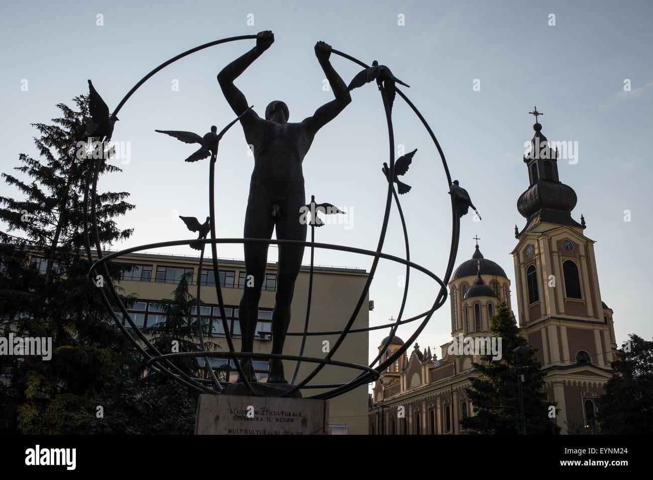 Monument de la paix, Barscarsija district, Sarajevo, Bosnie et Erzegovina Photo Stock
