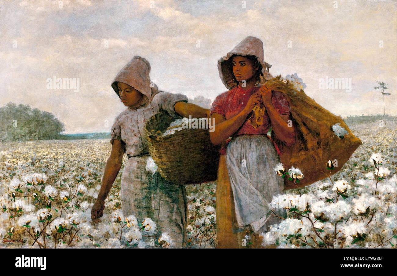 Winslow Homer, les cueilleurs de coton 1876 Huile sur toile. Los Angeles County Museum of Art, USA. Photo Stock