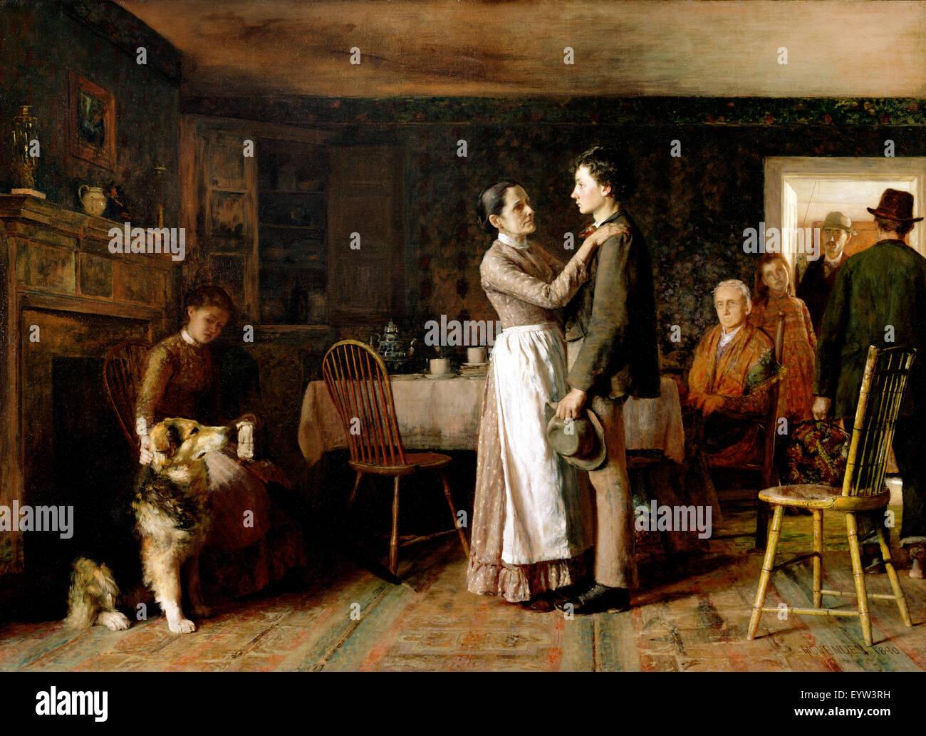 Thomas Hovenden, brisant les liens Accueil 1890 Huile sur toile. Philadelphia Museum of Art, USA. Photo Stock