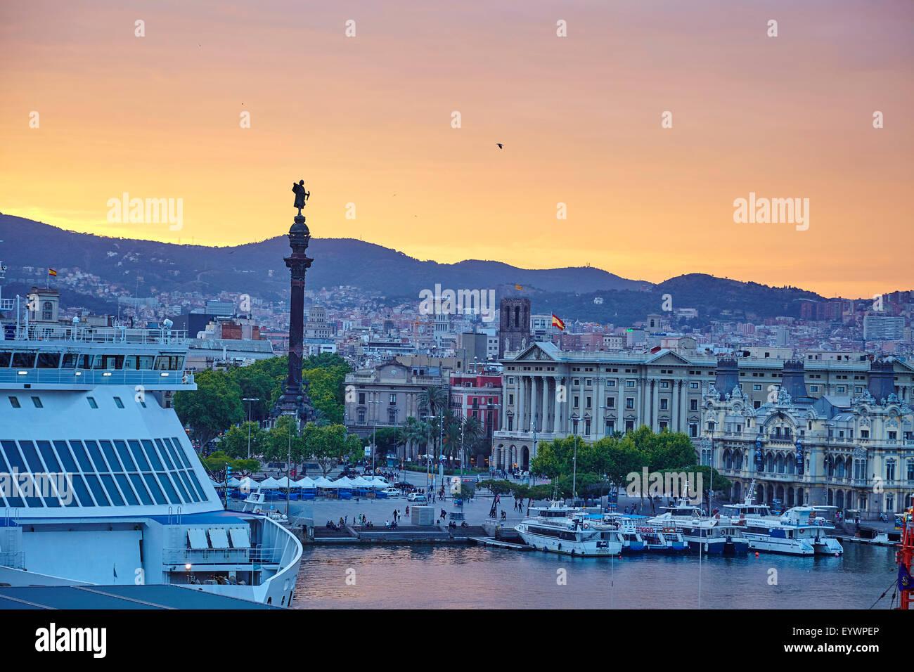 Port de plaisance de Barcelone, Barcelone, Catalogne, Espagne, Europe Photo Stock