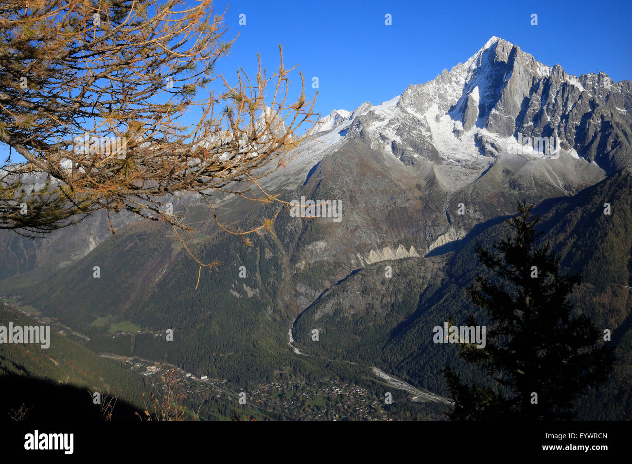 Chamonix, Massif du Mont Blanc, Alpes, Haute-Savoie, France, Europe Photo Stock