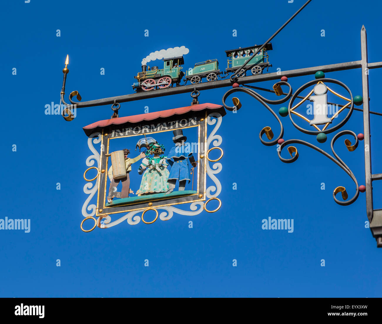 Appenzell, Appenzell Rhodes-Intérieures Canton, Suisse. Informations Inscription en face de l'Appenzell Photo Stock