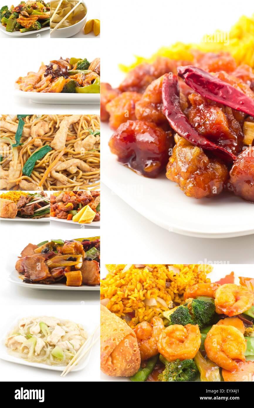 Cuisine Chinoise Populaire Divers Plats A Emporter En Collage