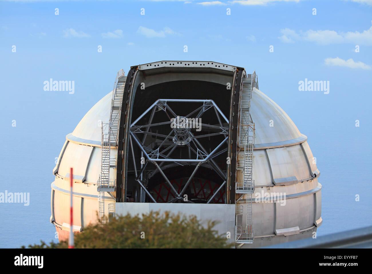 À l'observatoire Roque de los Muchachos, aux îles Canaries, La Palma Banque D'Images