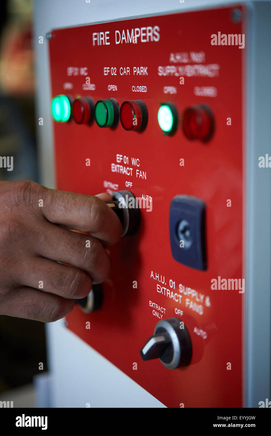 Panneau d'alarme incendie Photo Stock