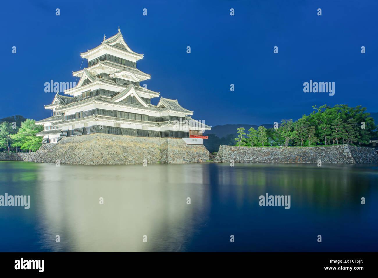 Château de Matsumoto à Matsumoto, Japon,ville Nagono Photo Stock