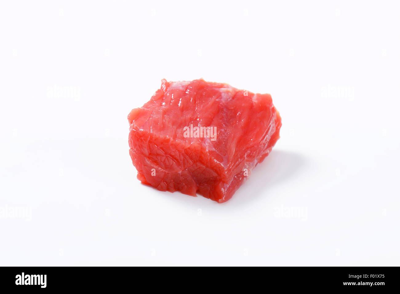 Morceau de filet de boeuf cru Photo Stock