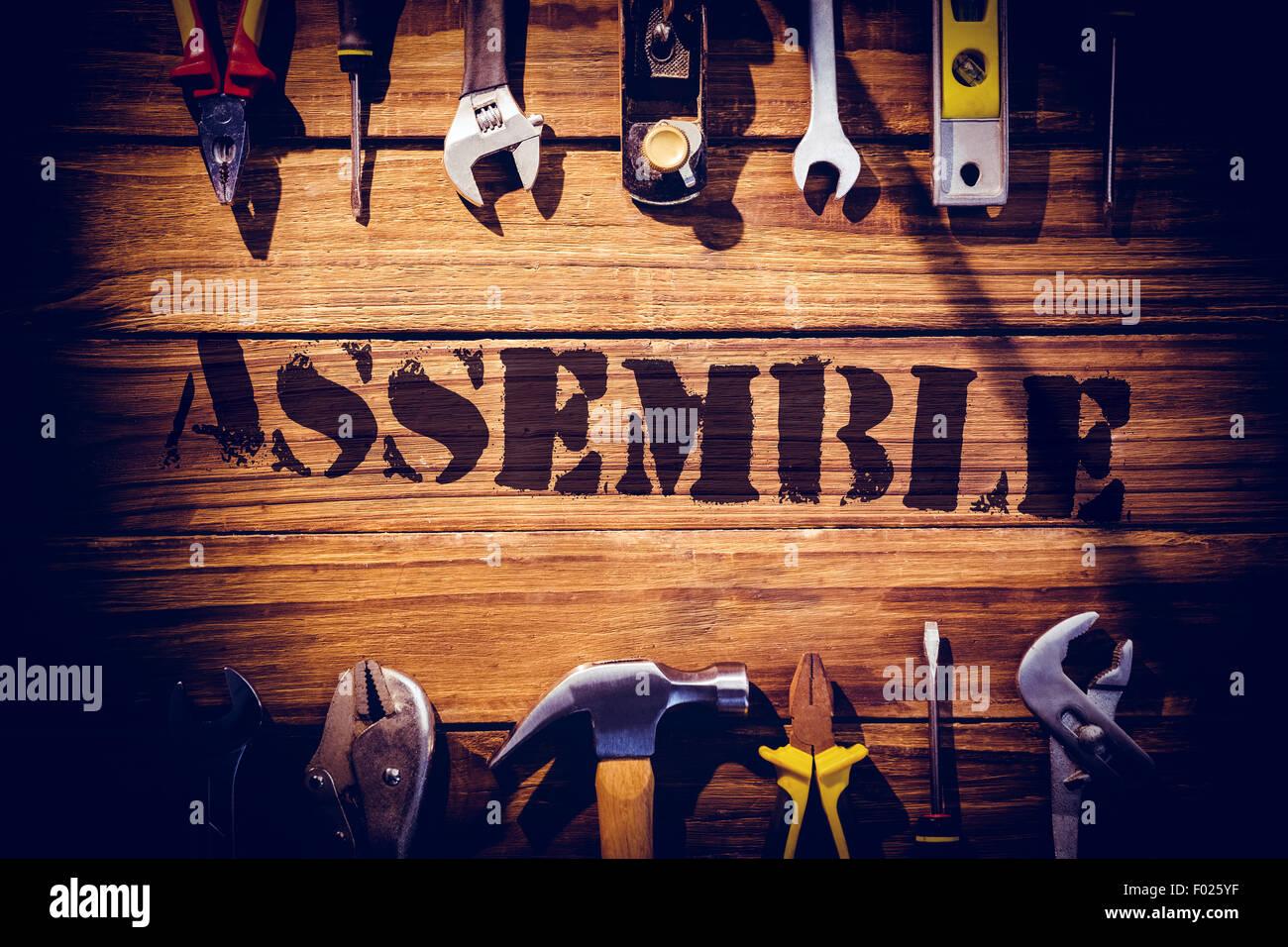 Assemblage contre 24 avec des outils Photo Stock