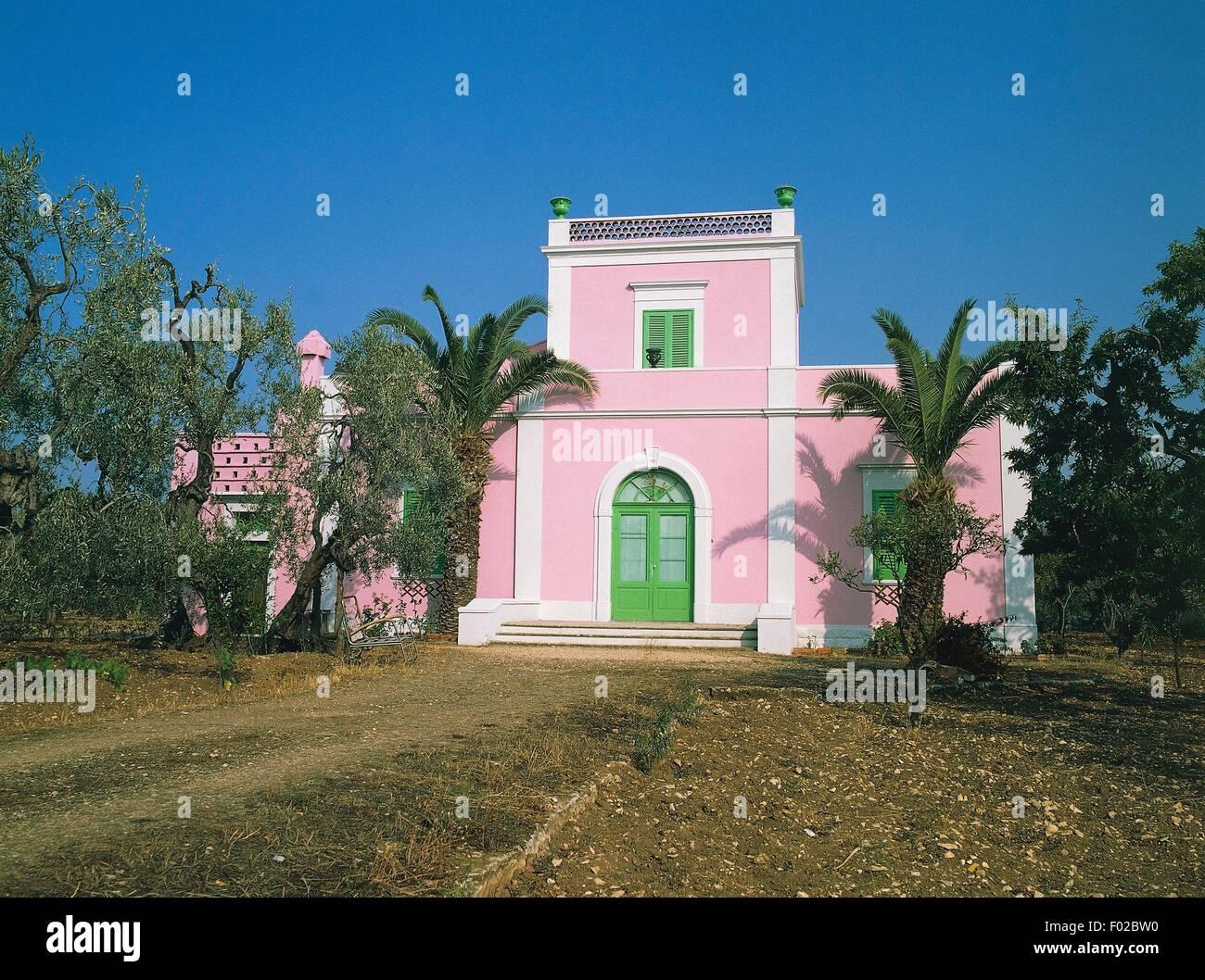 Maison près de Molfetta, Puglia, Italie. Banque D'Images