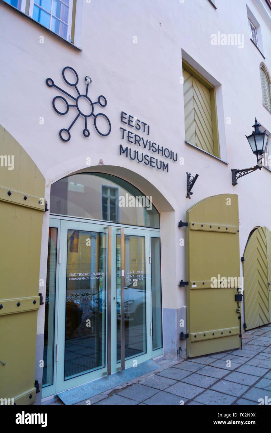 Tervishoiu muuseum, musée des soins de santé, le Lai street, old town, Tallinn, Estonie, dans le nord Photo Stock