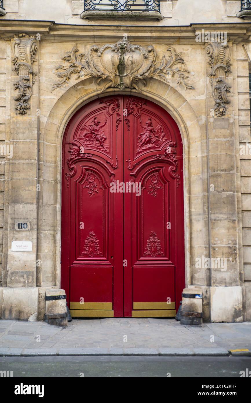 Porte Rouge Paris France Banque Dimages Photo Stock 86114259