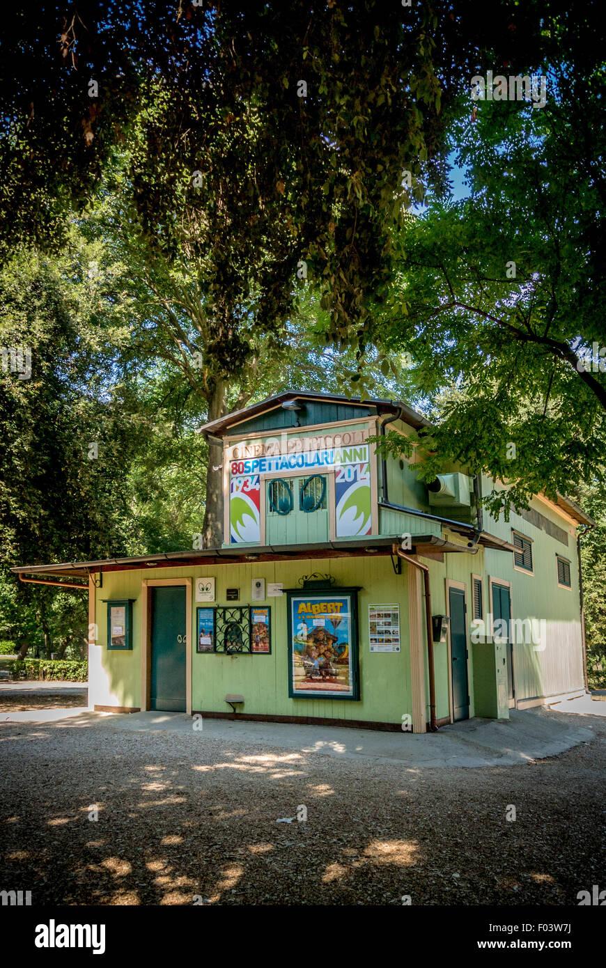 Le cinéma dei Piccoli, Jardins Borghese, Rome, Italie. Photo Stock