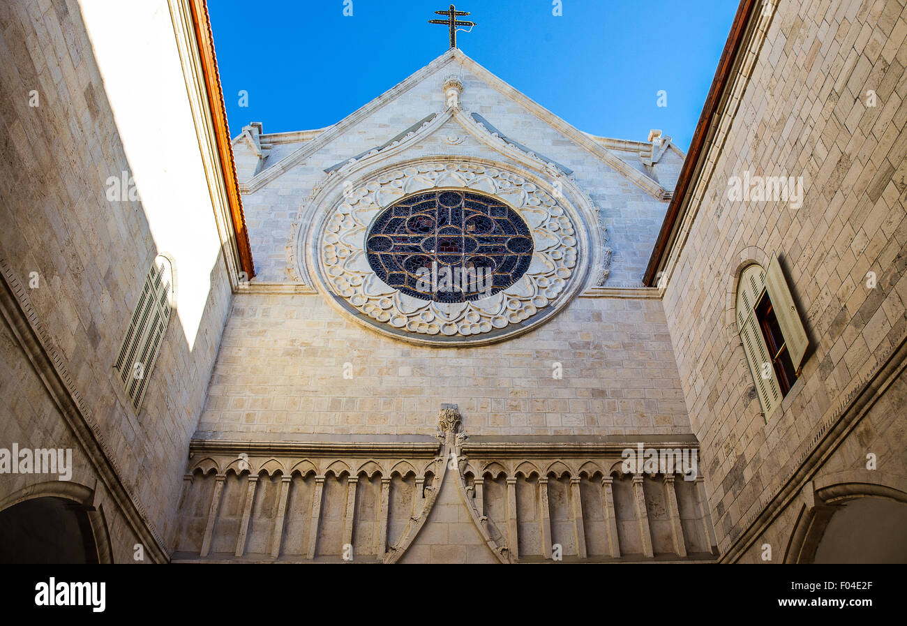 Israël, Jérusalem, la cathédrale de Patriarcat Latin Photo Stock