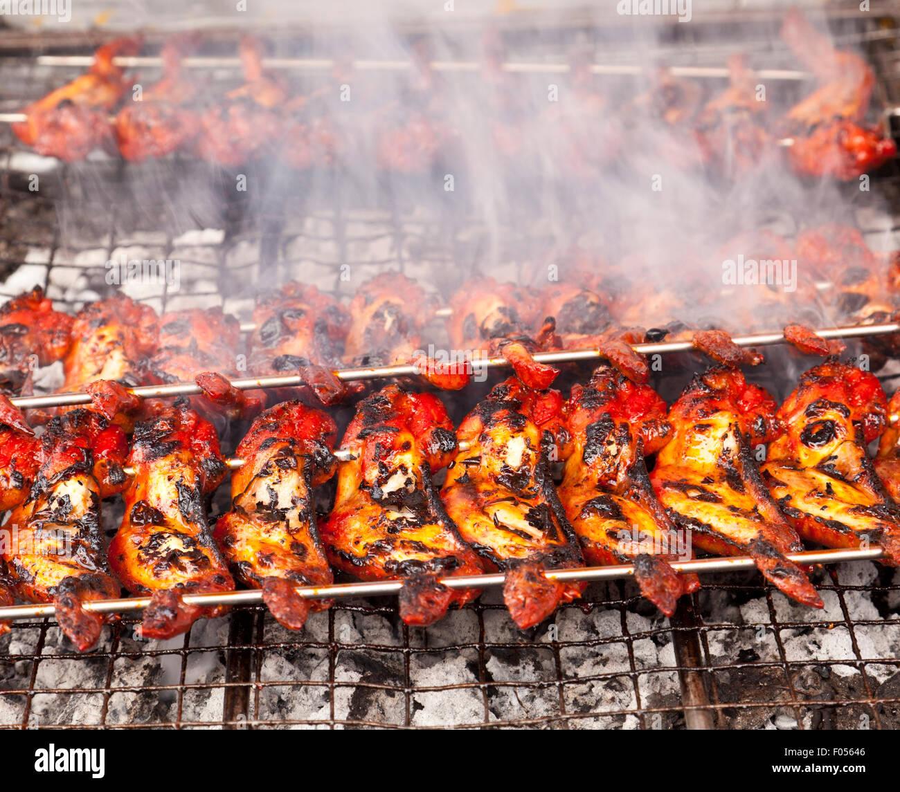 Ailes de poulet barbecue Photo Stock