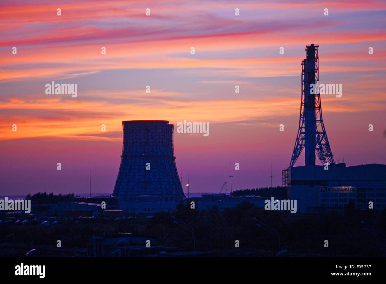 Centrale thermique Photo Stock