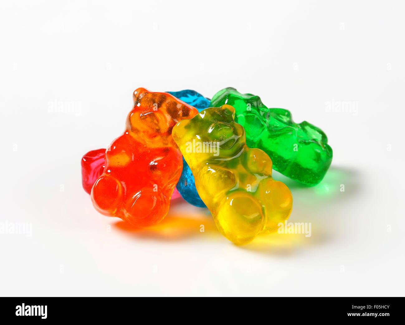 Gomme à saveur de fruits blancs au couleurs assorties Banque D'Images