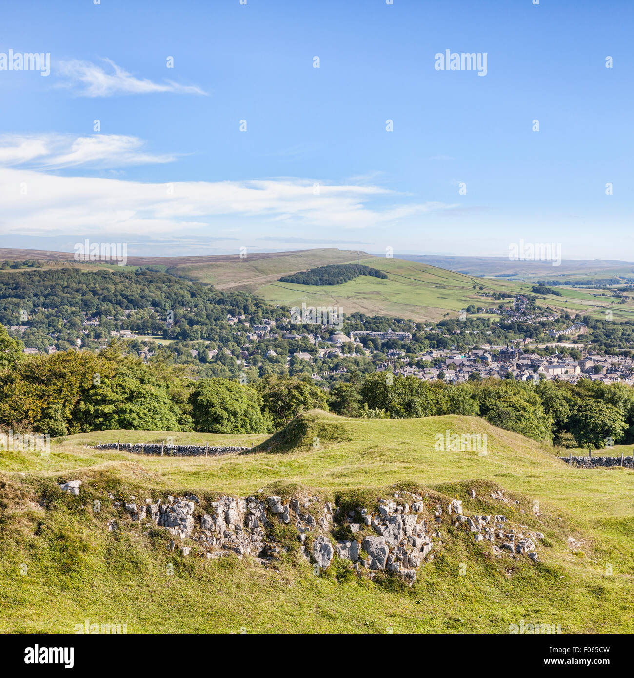Le Peak District Ville de Buxton Buxton et faible sourire de Country Park, Derbyshire, Angleterre Photo Stock