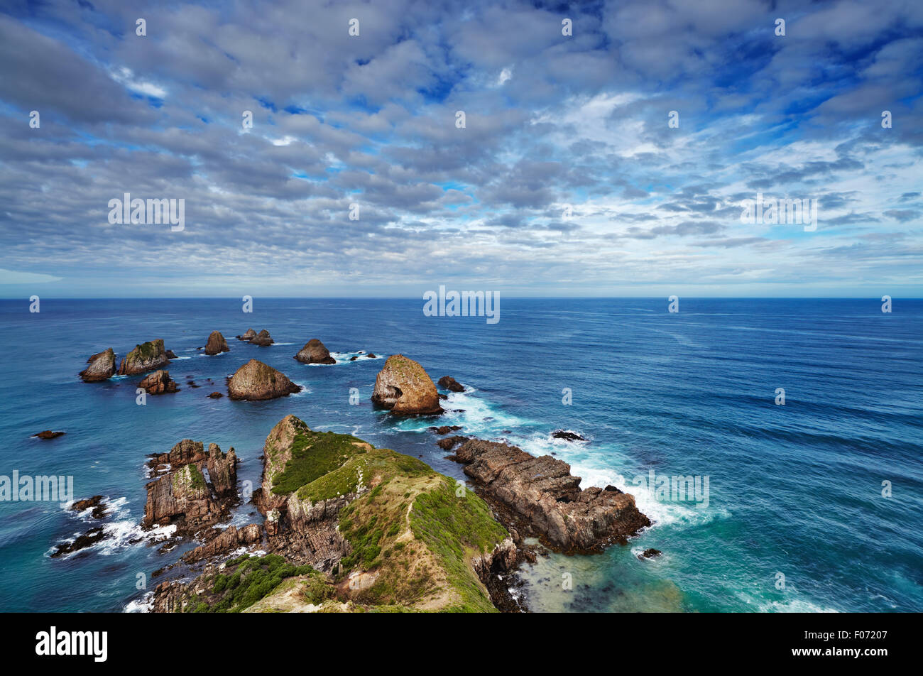 Nugget Point, Côte Catlins, Nouvelle-Zélande Photo Stock