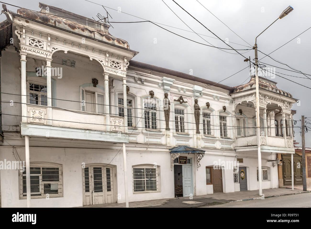 Maternité de la vieille station de police actuel & Slooda ville de Krasnaya Azerbaïdjan les Juifs Photo Stock