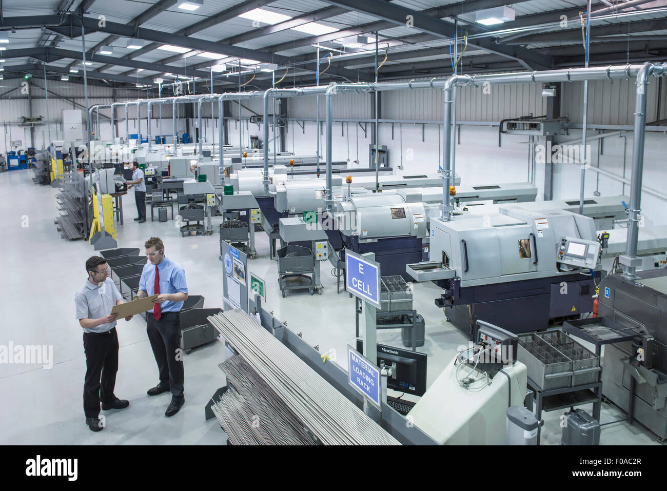 High angle view of engineering factory Photo Stock