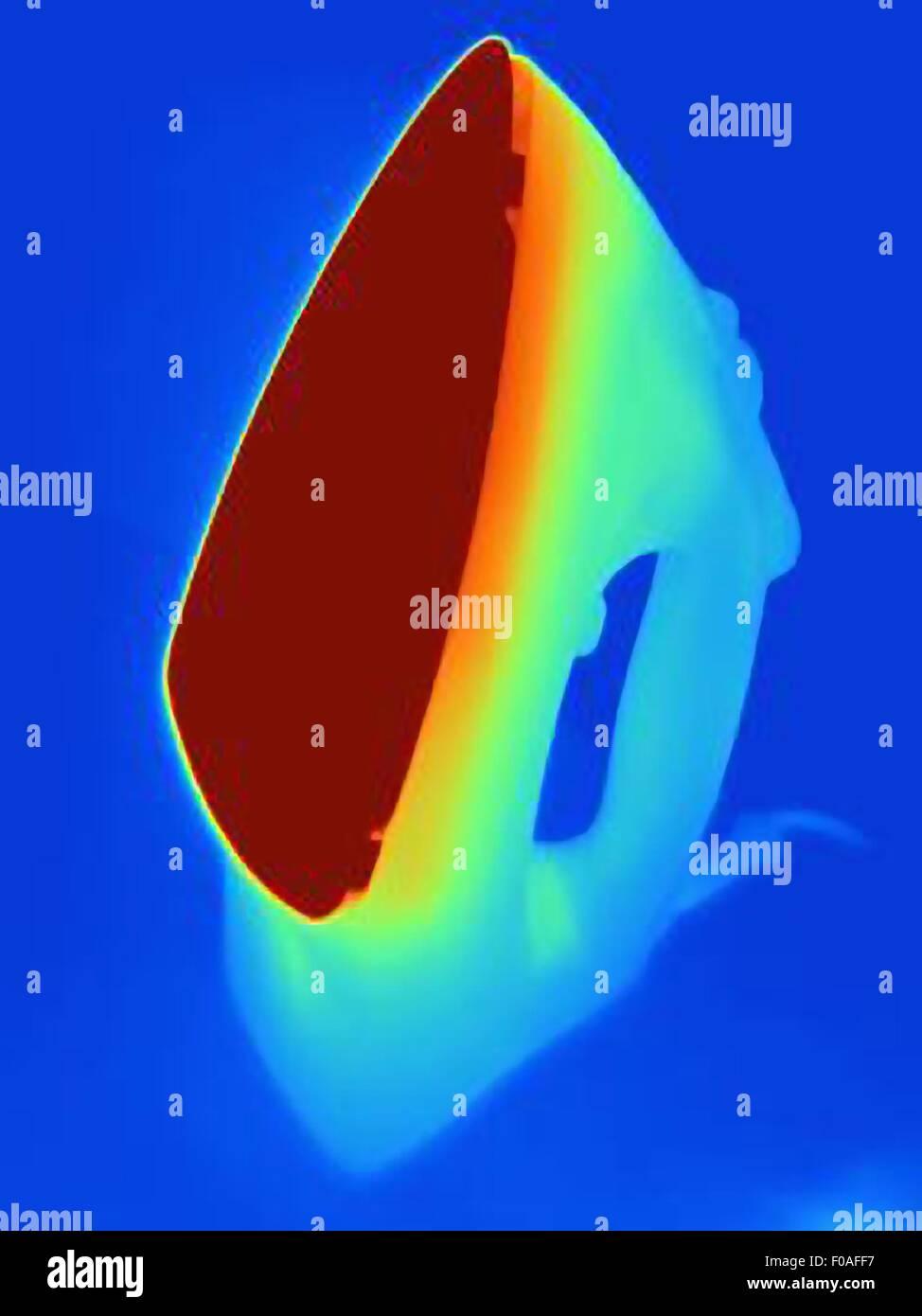 Image thermique d'un fer à repasser Photo Stock