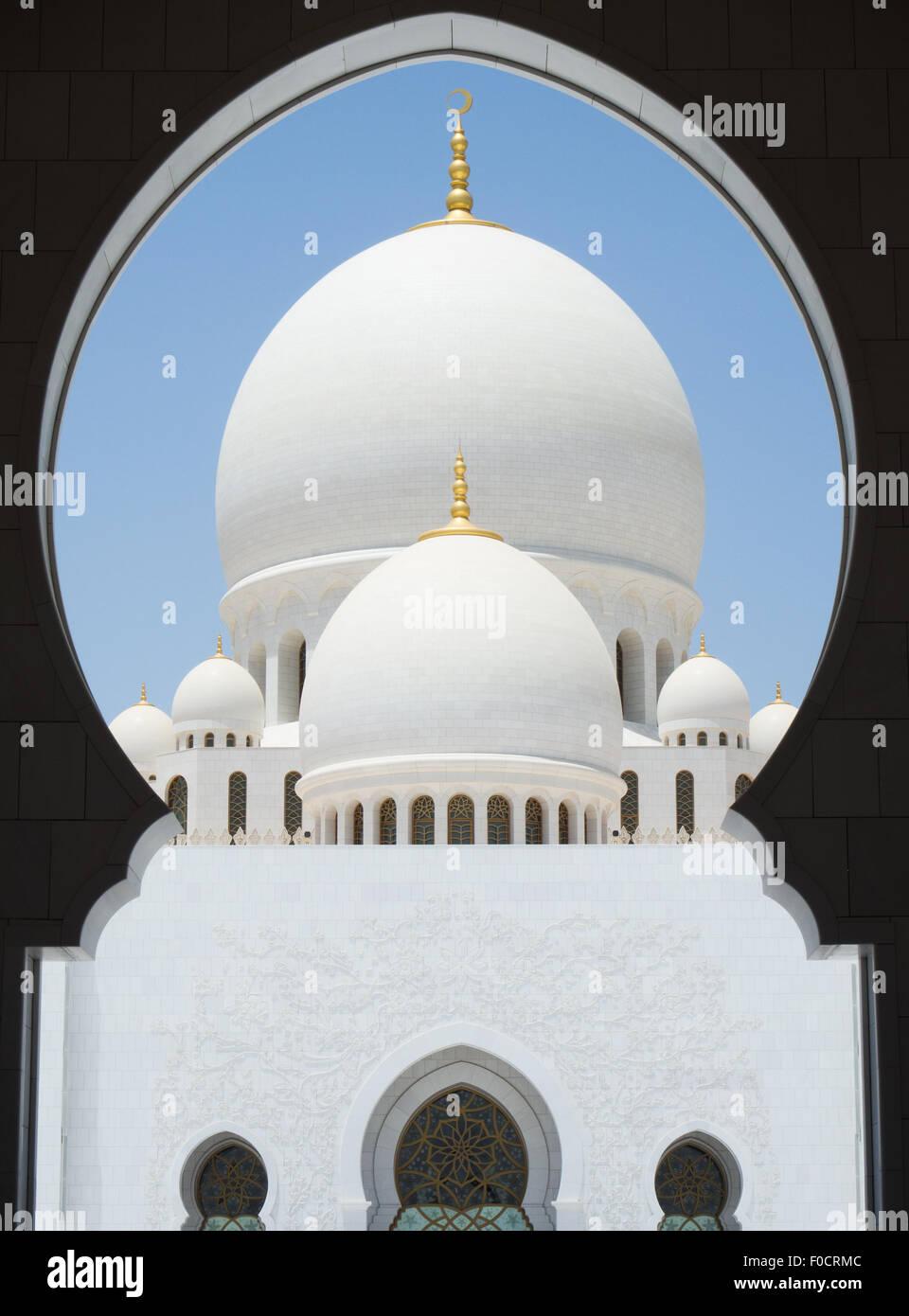 Passage de la Grande Mosquée Sheikh Zayed à Abu Dhabi, Émirats arabes unis Banque D'Images
