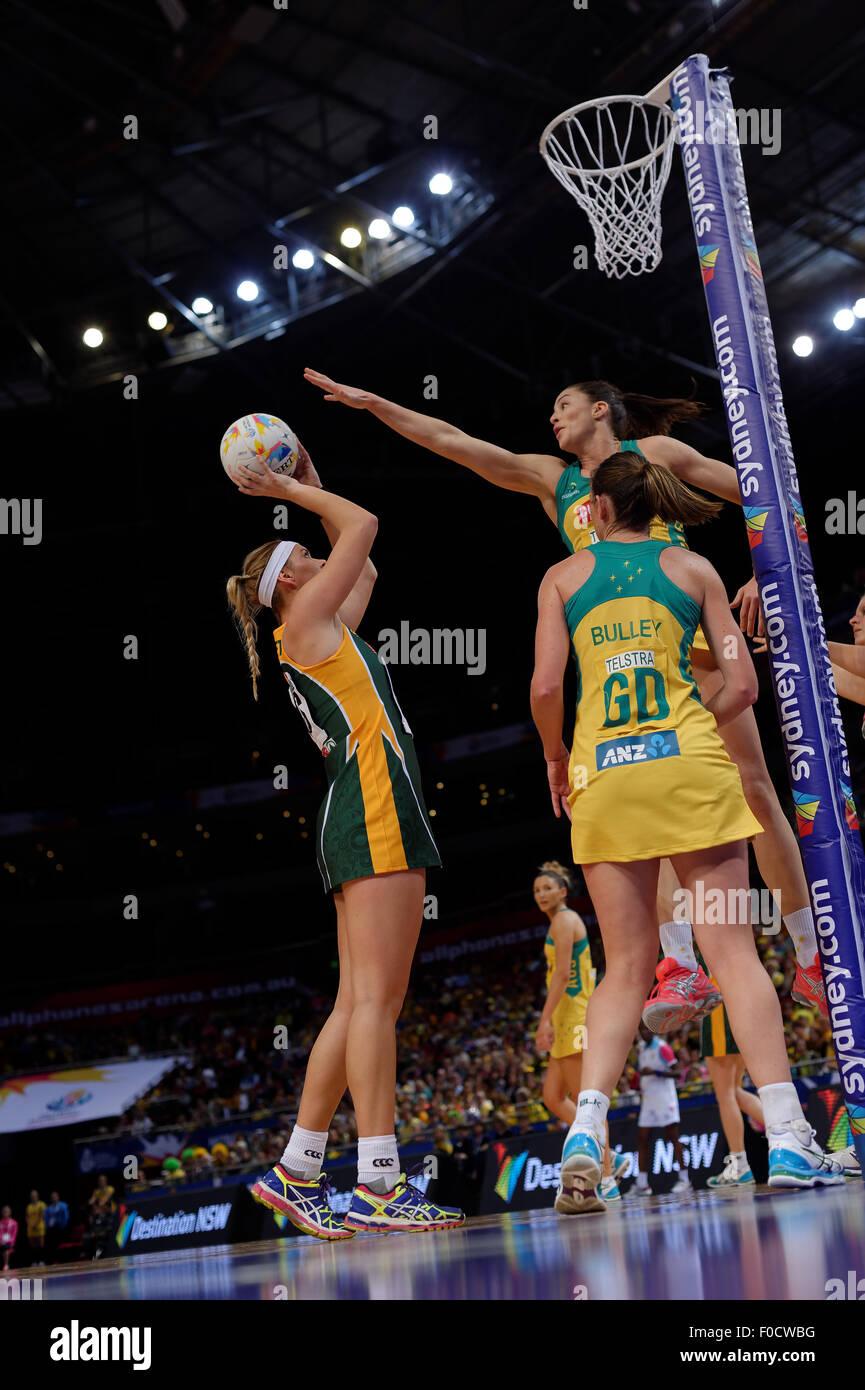 """Sydney, Australie. Août 12, 2015. Au cours de l'action de l'Afrique du Sud de l'Australie par """"Proteas' Photo Stock"""