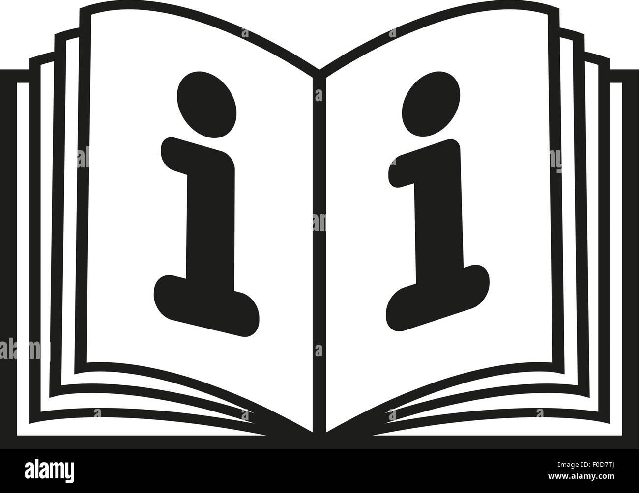 L Icone Livre Ouvert Tutoriel Et Manuel Instruction