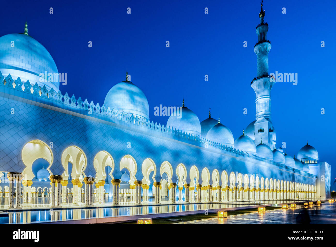 La Mosquée Sheikh Zayed, Abu Dhabi, Émirats Arabes Unis Photo Stock