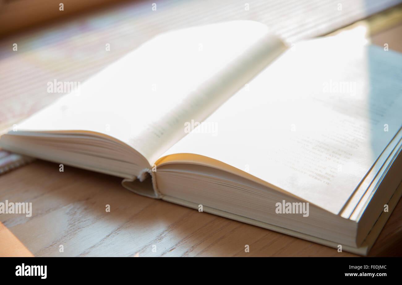 Bible livre blanc antique catalogue brochure copybook concepts conception de la couverture de l'enseignement Photo Stock