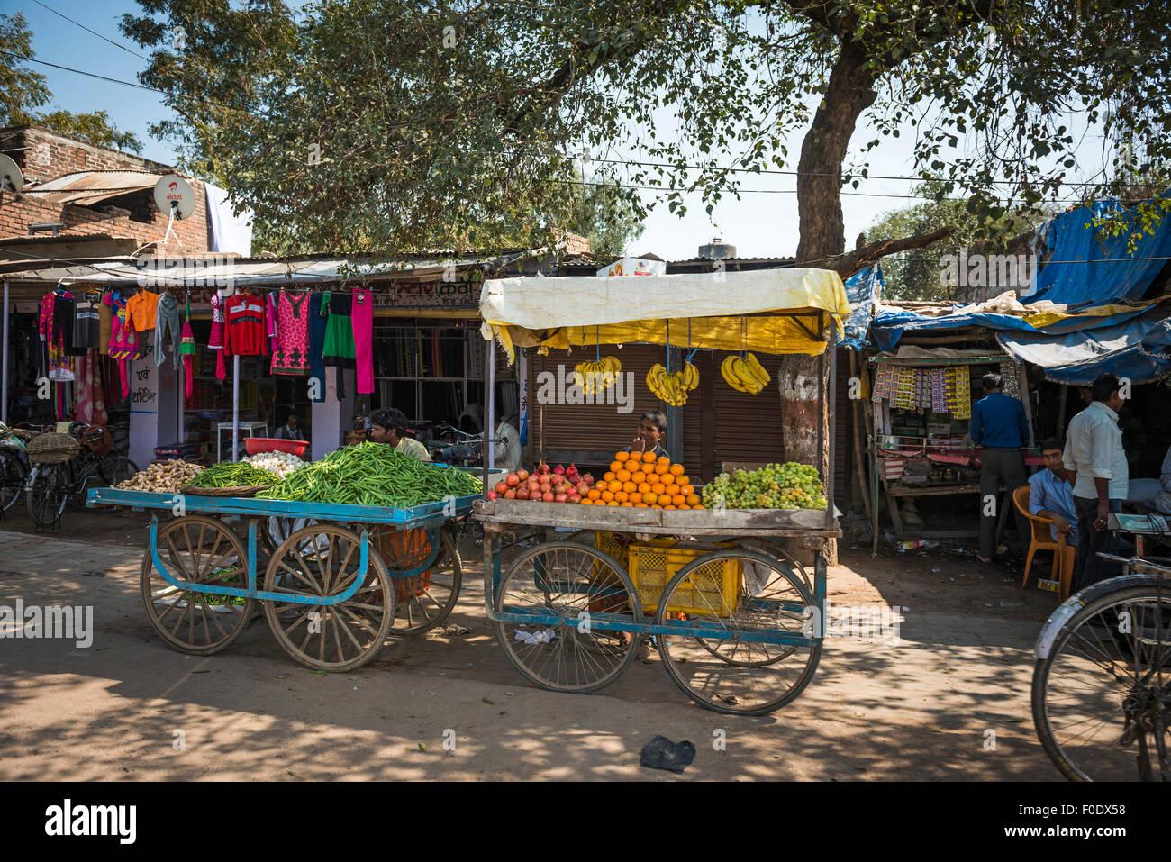 La vie quotidienne dans une petite ville de l'Inde Photo Stock