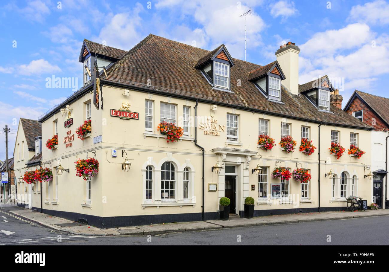 L'hôtel Swan et pub dans Arundel, West Sussex, Angleterre, Royaume-Uni. Photo Stock