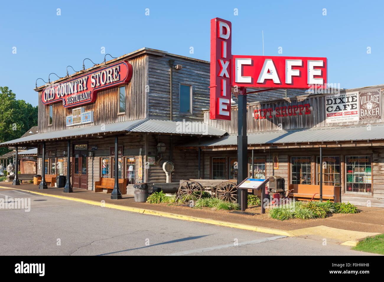 Brooks Shaw's Old Country Store dans la région de Casey Jones Village à Jackson, Tennessee. Banque D'Images