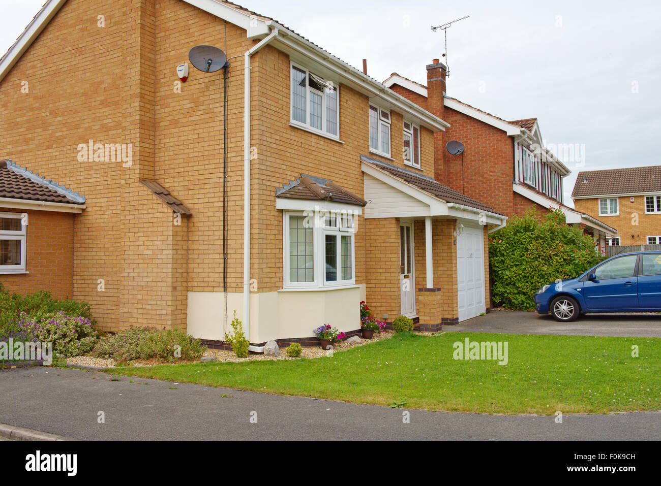 Maisons de banlieue moderne sur housing estate stapleford derbyshire photo stock