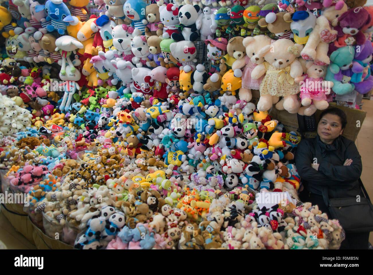 Magasin de jouets en peluche à Hanoi, Vietnam Photo Stock