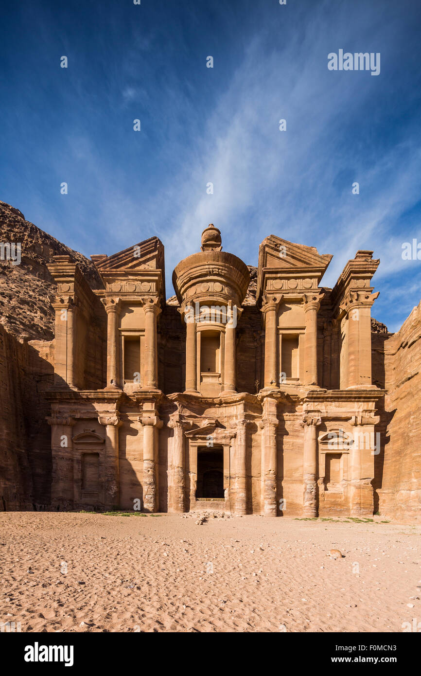 El Deir, le monasteryy, Petra, Jordanie. Photo Stock