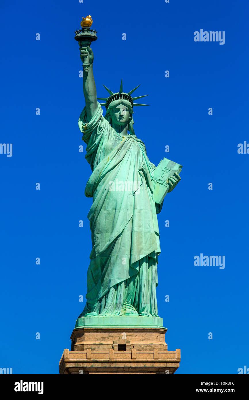 La ville de New York, Statue de la Liberté Photo Stock