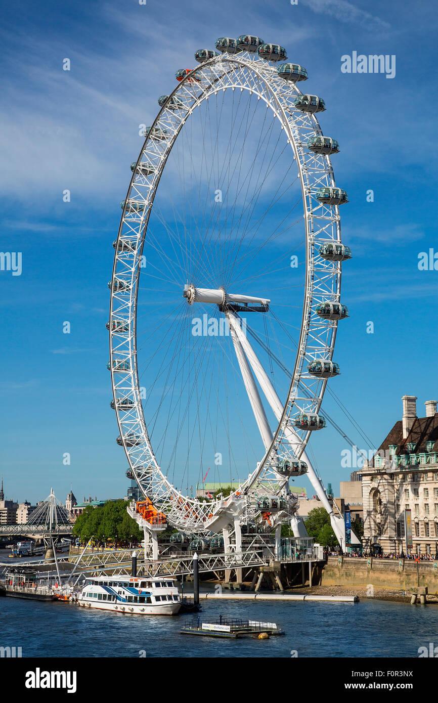 Londres, roue du millénaire Photo Stock