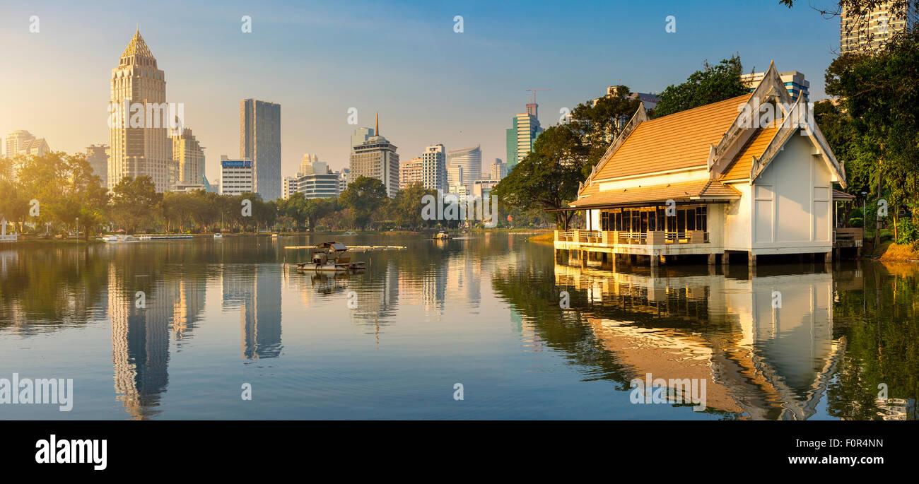 Thaïlande, Bangkok, Lumpini Park Photo Stock