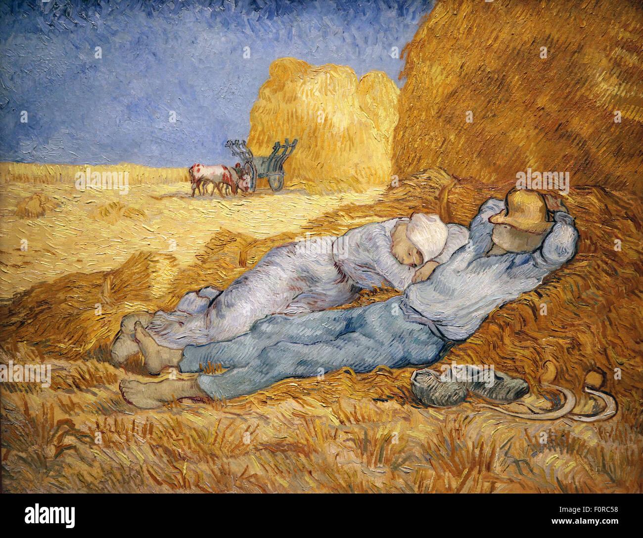 La sieste après le MIL 1889 Vincent van Gogh 1853-1890 Photo Stock