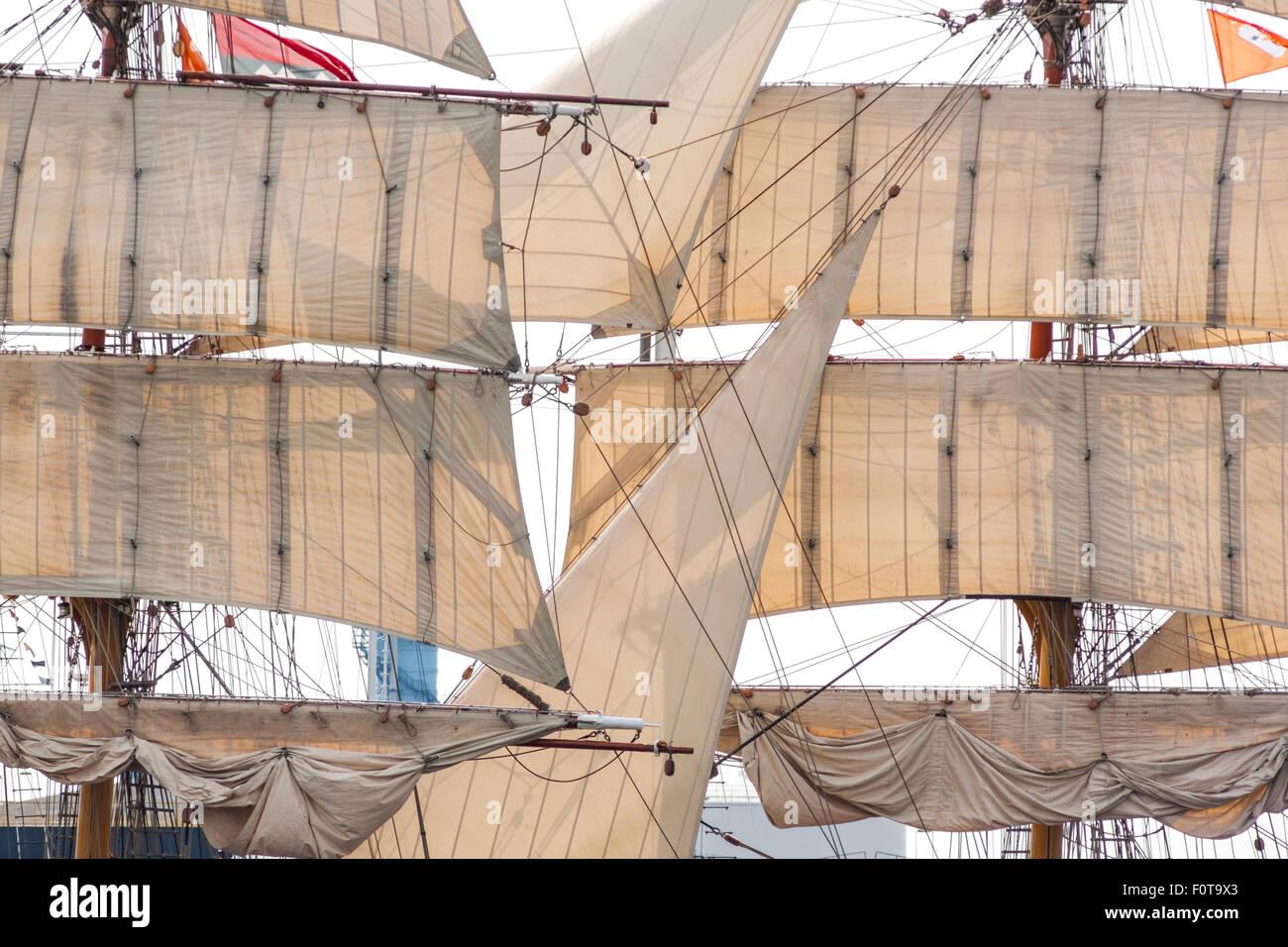Tall Ship Sail Amsterdam Europa 2015 Photo Stock