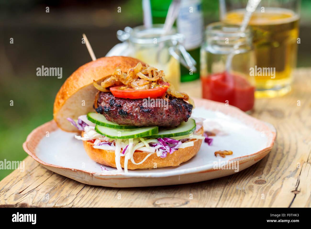 Burger Gourmet Photo Stock