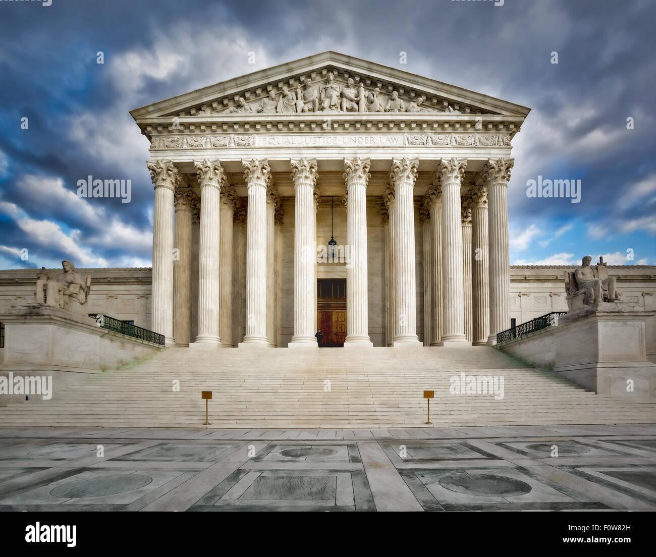 La Cour suprême des États-Unis d'Amérique Washington DC. Photo Stock