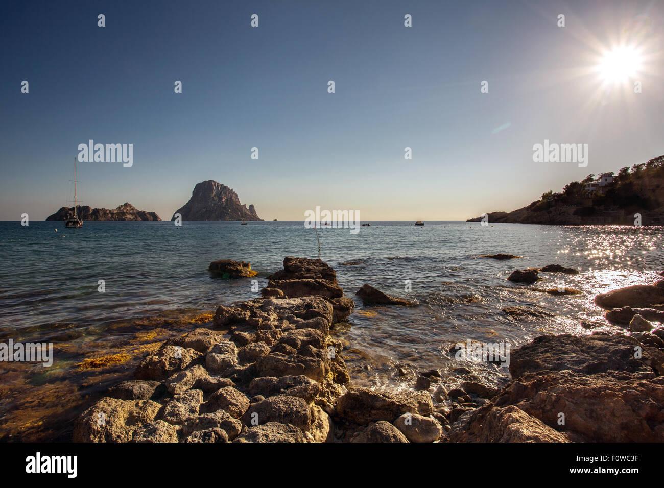 Ibiza (Eivissa), Es Vedra Rock Photo Stock